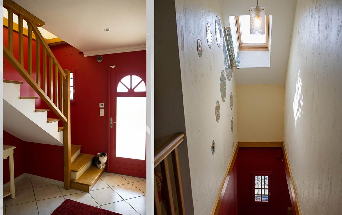 Graines de couleurs - Réalisation entée et escalier - 2