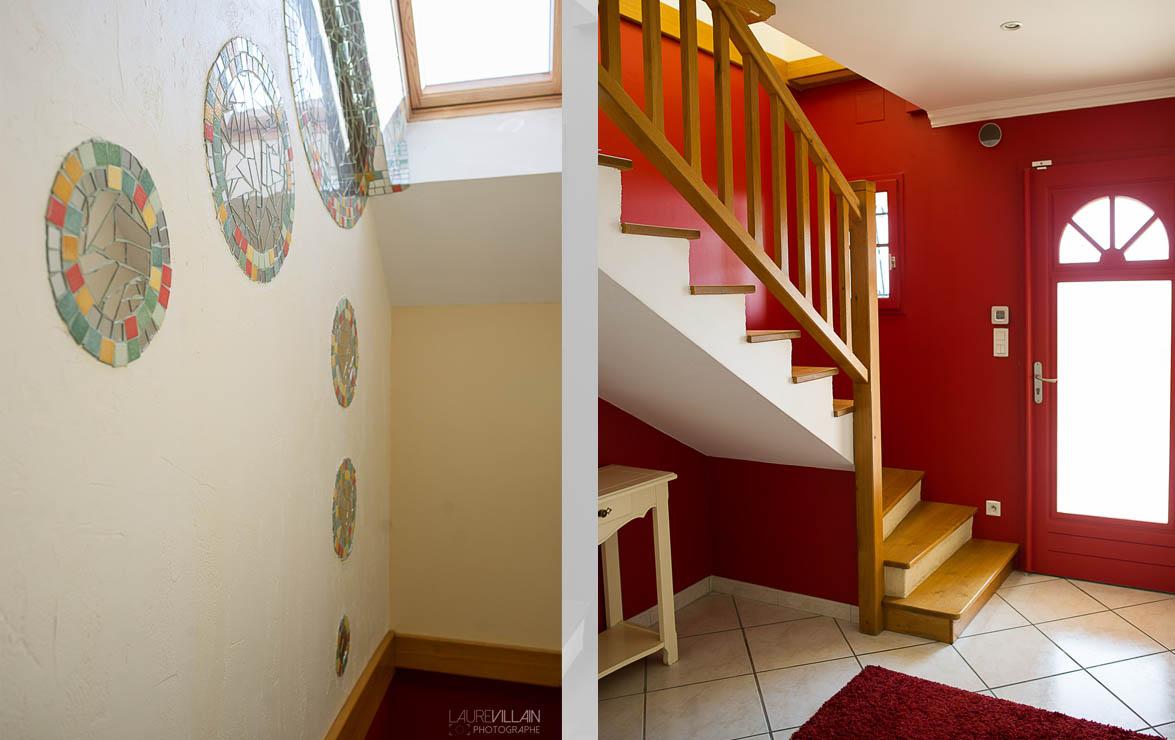 Graines de couleurs - Réalisation entée et escalier - 6